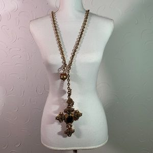 AMAZING Large Jewel Cross made for Madonna in 80's